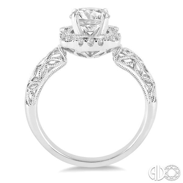 5/8 Ctw Diamond Engagement Ring with 3/8 Ct Round Cut Center Stone in 14K White Gold Image 3 Robert Irwin Jewelers Memphis, TN