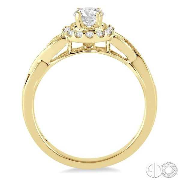 1/2 Ctw Diamond Engagement Ring with 1/5 Ct Round Cut Center Stone in 14K Yellow Gold Image 3 Robert Irwin Jewelers Memphis, TN