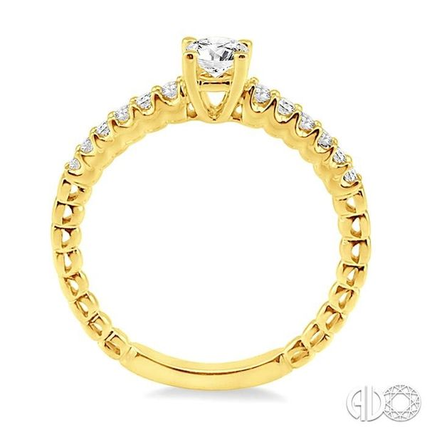 1/2 Ctw Diamond Engagement Ring with 1/4 Ct Round Cut Center Stone in 14K Yellow Gold Image 3 Robert Irwin Jewelers Memphis, TN