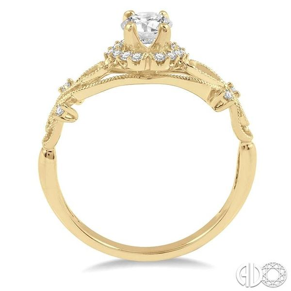 1/3 Ctw Diamond Engagement Ring with 1/5 Ct Round Cut Center Stone in 14K Yellow Gold Image 3 Robert Irwin Jewelers Memphis, TN