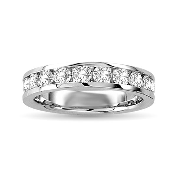 Diamond Machine Band 1/4 ct tw Round-cut 10K White Gold Robert Irwin Jewelers Memphis, TN