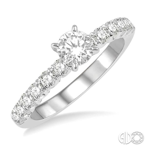 1/2 ct Endless Embrace Round Cut Diamond Ladies Engagement Ring in 14K White Gold Robert Irwin Jewelers Memphis, TN