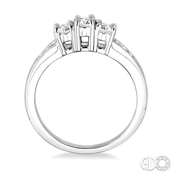 1/2 Ctw Diamond Engagement Ring with 1/6 Ct Round Cut Center Stone in 14K White Gold Image 3 Robert Irwin Jewelers Memphis, TN