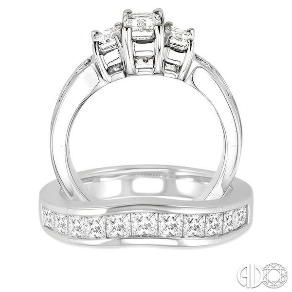 PAST PRESENT & FUTURE DIAMOND WEDDING SET Image 3 Robert Irwin Jewelers Memphis, TN