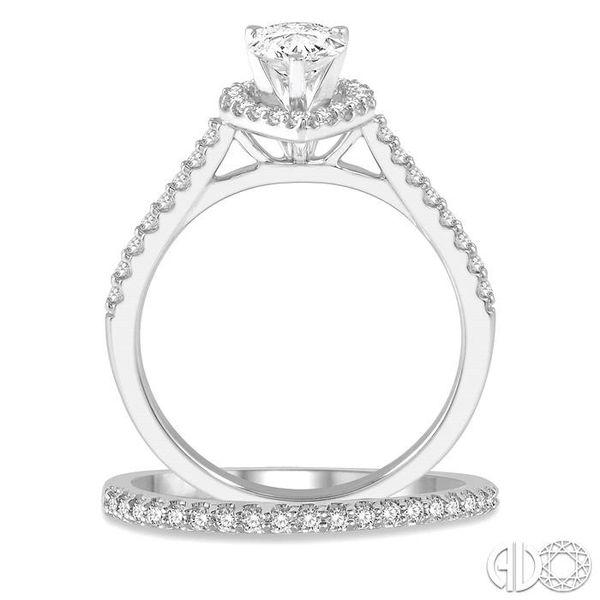 PEAR SHAPE DIAMOND WEDDING SET Image 3 Robert Irwin Jewelers Memphis, TN