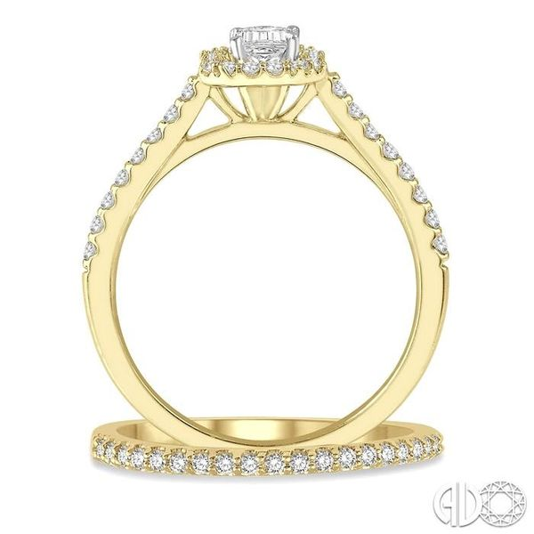 DIAMOND WEDDING SET Image 3 Robert Irwin Jewelers Memphis, TN