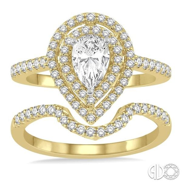 PEAR SHAPE DIAMOND WEDDING SET Image 2 Robert Irwin Jewelers Memphis, TN