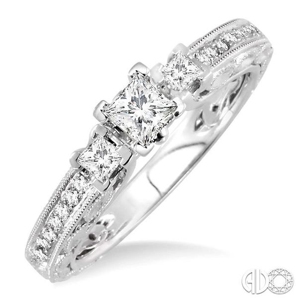 PAST PRESENT & FUTURE DIAMOND ENGAGEMENT RING Robert Irwin Jewelers Memphis, TN