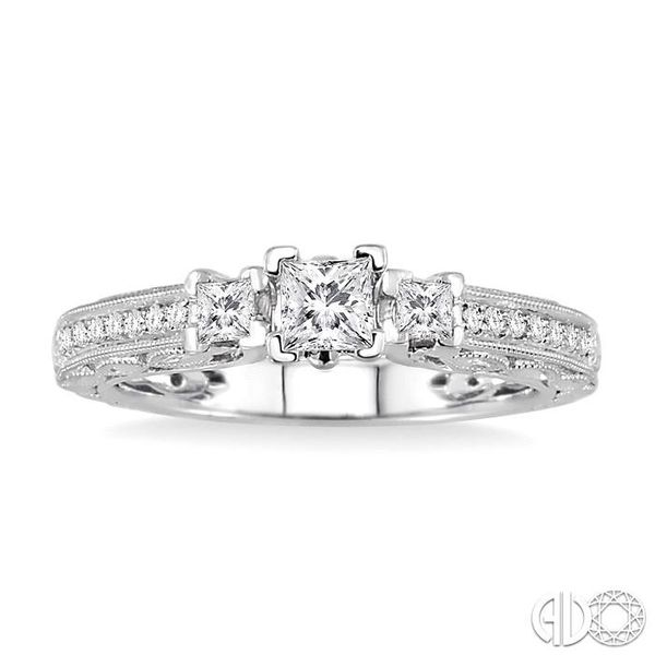 PAST PRESENT & FUTURE DIAMOND ENGAGEMENT RING Image 2 Robert Irwin Jewelers Memphis, TN