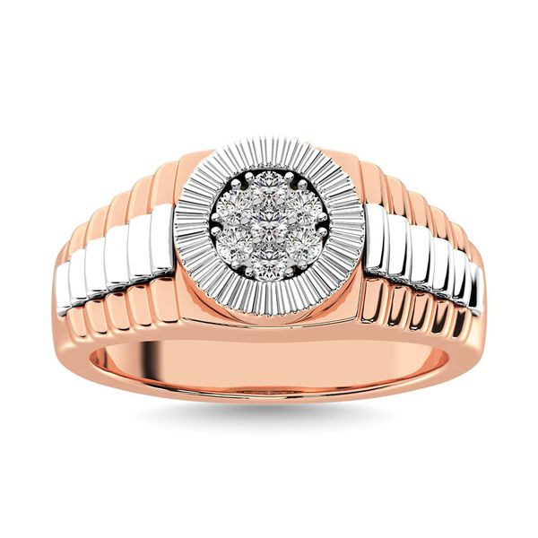 Diamond 1/2 Ct.Tw. Mens Fashion Ring in 10K Two Tone Gold Image 2 Robert Irwin Jewelers Memphis, TN