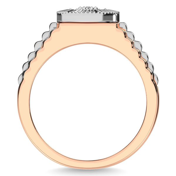 Diamond 1/2 Ct.Tw. Mens Fashion Ring in 10K Two Tone Gold Image 4 Robert Irwin Jewelers Memphis, TN