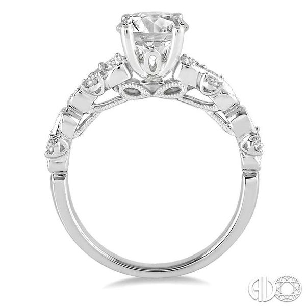 3/4 Ctw Diamond Engagement Ring with 5/8 Ct Princess Cut Center Stone in 14K White Gold Image 3 Robert Irwin Jewelers Memphis, TN