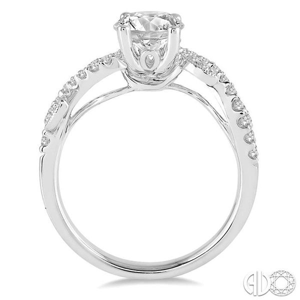 7/8 Ctw Diamond Engagement Ring with 5/8 Ct Round Cut Center Stone in 14K White Gold Image 3 Robert Irwin Jewelers Memphis, TN