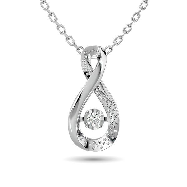 Diamond Shimmering Pendant 1/50 ct tw Round-cut in Sterling Silver Robert Irwin Jewelers Memphis, TN