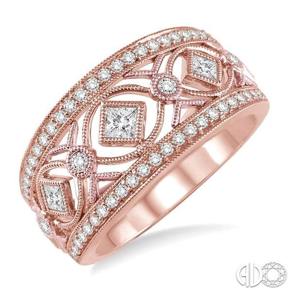 5/8 Ctw Diamond Fashion Ring in 14K Rose Gold Robert Irwin Jewelers Memphis, TN