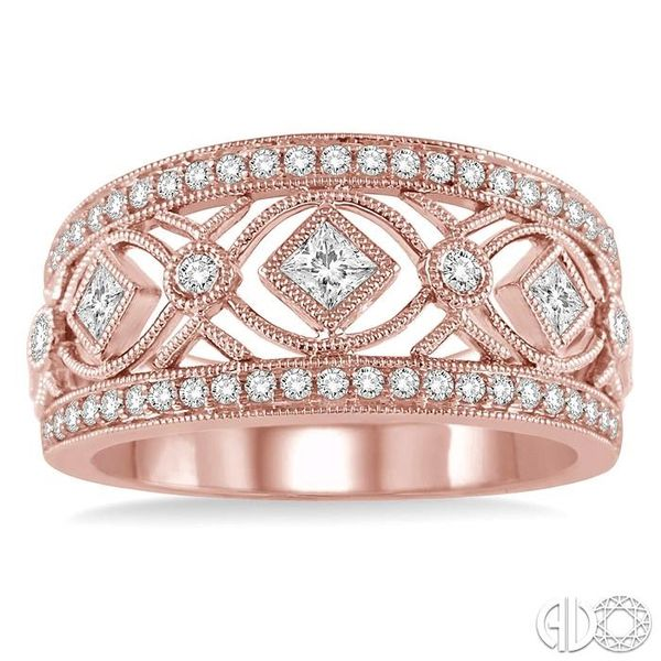 5/8 Ctw Diamond Fashion Ring in 14K Rose Gold Image 2 Robert Irwin Jewelers Memphis, TN