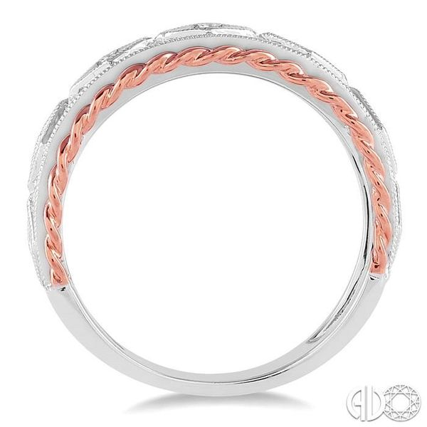 1/3 Ctw Round Cut Diamond Fashion Band in 14K White and Rose Gold Image 3 Robert Irwin Jewelers Memphis, TN