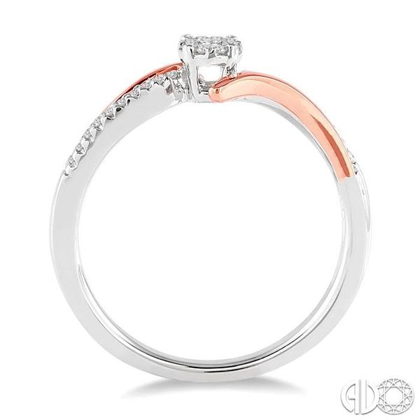 1/10 Ctw Lovebright Round Cut Diamond Ring in 14K White and Rose Gold Image 3 Robert Irwin Jewelers Memphis, TN