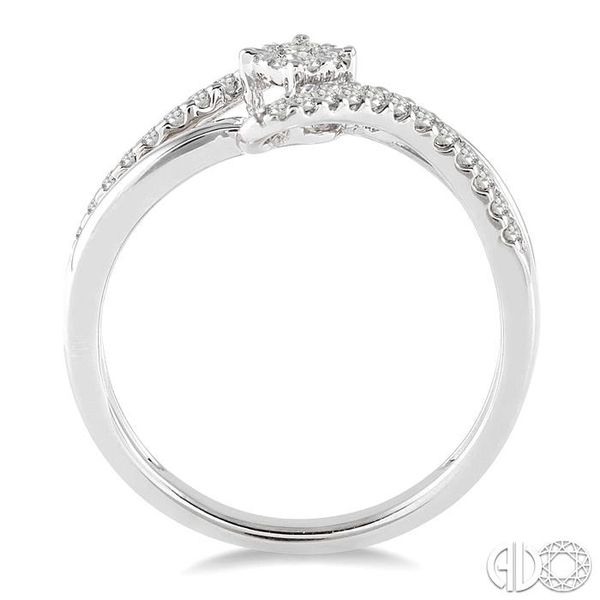 1/4 Ctw Lovebright Round Cut Diamond Ring in 10K White Gold Image 3 Robert Irwin Jewelers Memphis, TN