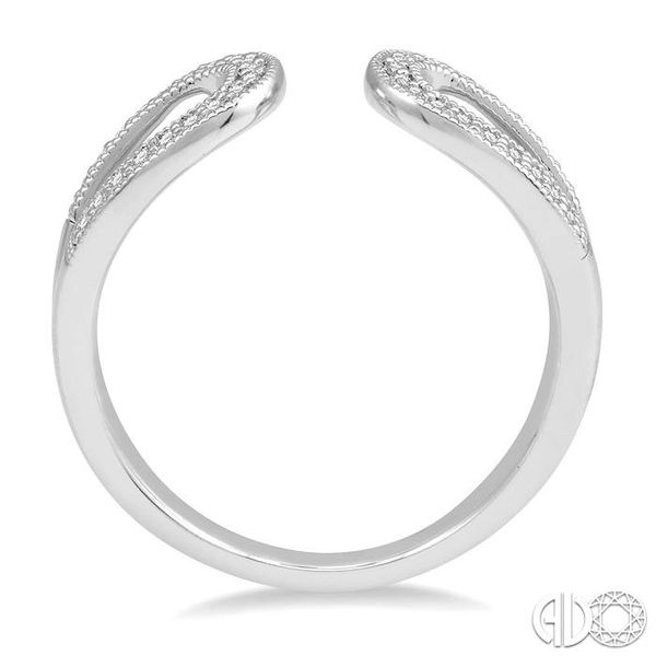 1/6 Ctw Horseshoe Style Open End Round Cut Diamond Ladies Ring in 10K White Gold Image 3 Robert Irwin Jewelers Memphis, TN