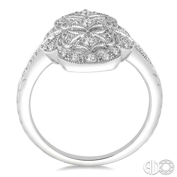 1/2 Ctw Floral Geometry Round Cut Diamond Ladies Ring in 14K White Gold Image 3 Robert Irwin Jewelers Memphis, TN