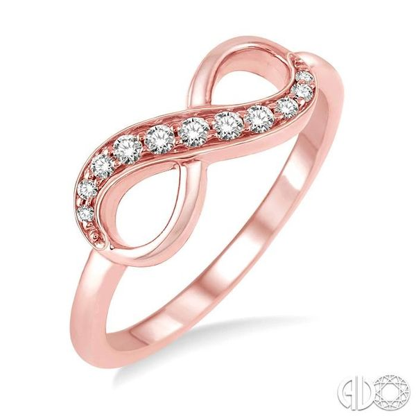 1/6 Ctw Round Cut Diamond Infinity Ring in 10K Rose Gold Robert Irwin Jewelers Memphis, TN