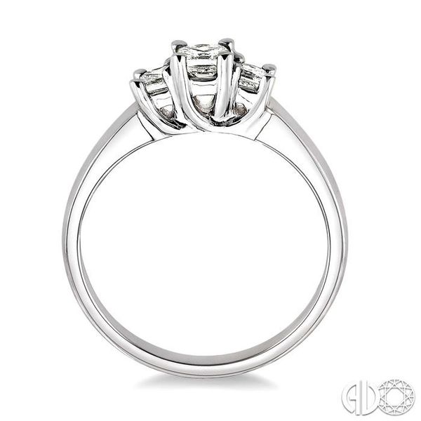 1/2 Ctw 3 Stone Princess Cut Diamond Ring in 14K White Gold Image 3 Robert Irwin Jewelers Memphis, TN
