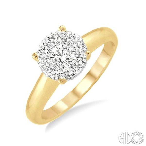 1/8 Ctw Lovebright Round Cut Diamond Ring in 14K Yellow Gold Robert Irwin Jewelers Memphis, TN
