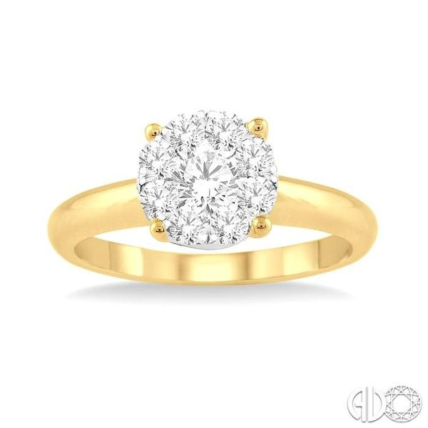 1/8 Ctw Lovebright Round Cut Diamond Ring in 14K Yellow Gold Image 2 Robert Irwin Jewelers Memphis, TN