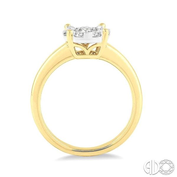 1/8 Ctw Lovebright Round Cut Diamond Ring in 14K Yellow Gold Image 3 Robert Irwin Jewelers Memphis, TN