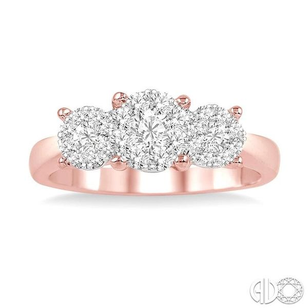 3/4 Ctw Lovebright Round Cut Diamond Ring in 14K Rose and White Gold Image 2 Robert Irwin Jewelers Memphis, TN