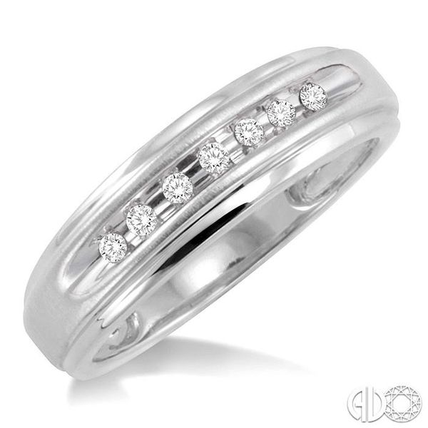 1/20 Ctw Round Cut Diamond Ladies Duo Ring in 14K White Gold Robert Irwin Jewelers Memphis, TN