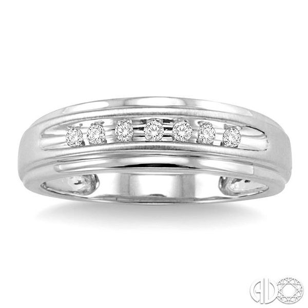1/20 Ctw Round Cut Diamond Ladies Duo Ring in 14K White Gold Image 2 Robert Irwin Jewelers Memphis, TN