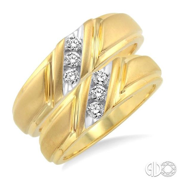 1/4 Ctw Round Cut Diamond Duo Set in 10K Yellow Gold Robert Irwin Jewelers Memphis, TN