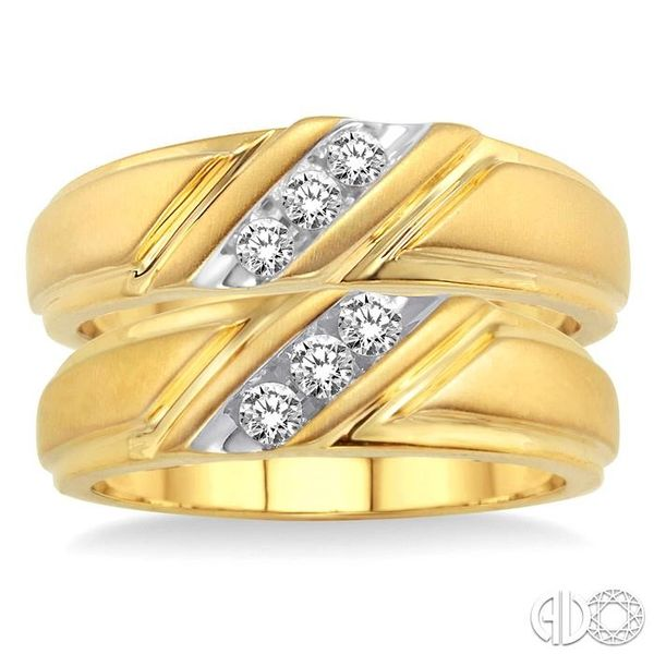 1/4 Ctw Round Cut Diamond Duo Set in 10K Yellow Gold Image 2 Robert Irwin Jewelers Memphis, TN