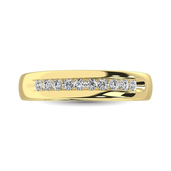 14K Yellow Gold 1 Ct.Tw. Diamond Mens Machine Band Robert Irwin Jewelers Memphis, TN