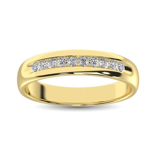14K Yellow Gold 1 Ct.Tw. Diamond Mens Machine Band Image 3 Robert Irwin Jewelers Memphis, TN