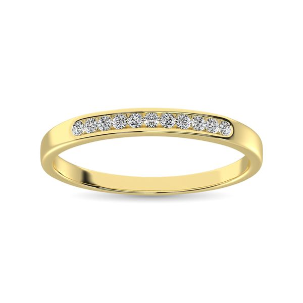 14K Yellow Gold 1/3 Ct.Tw. Diamond Ladies Machine Band Image 2 Robert Irwin Jewelers Memphis, TN