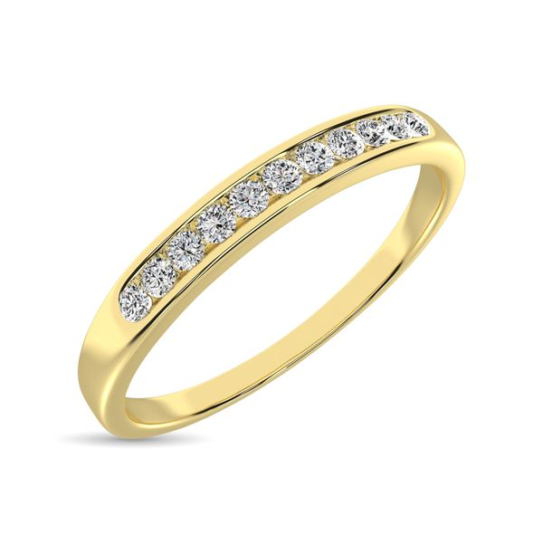 14K Yellow Gold 1 Ct.Tw. Diamond Ladies Machine Band Image 3 Robert Irwin Jewelers Memphis, TN