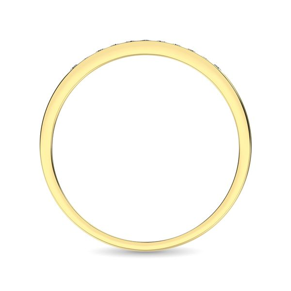 14K Yellow Gold 1 Ct.Tw. Diamond Ladies Machine Band Image 4 Robert Irwin Jewelers Memphis, TN