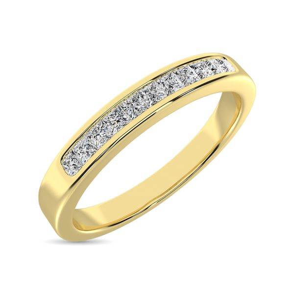 14K Yellow Gold 1/3 Ct.Tw. Diamond Ladies Machine Band Image 3 Robert Irwin Jewelers Memphis, TN