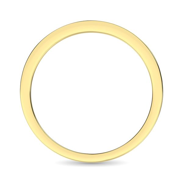 14K Yellow Gold 1/3 Ct.Tw. Diamond Ladies Machine Band Image 4 Robert Irwin Jewelers Memphis, TN