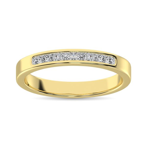 14K Yellow Gold 1 Ct.Tw. Diamond Ladies Machine Band Image 2 Robert Irwin Jewelers Memphis, TN
