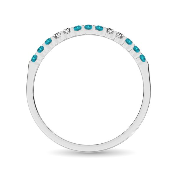 Aqua Marine 1/4 Ct.Tw. Machine Band in 14K White Gold Image 4 Robert Irwin Jewelers Memphis, TN