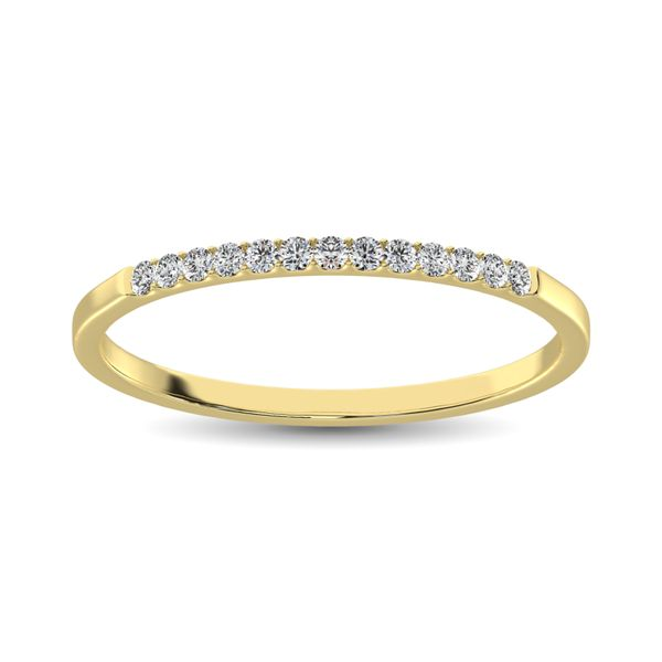 14K Yellow Gold 1/3 Ct Diamond Ladies Machine Band Image 2 Robert Irwin Jewelers Memphis, TN