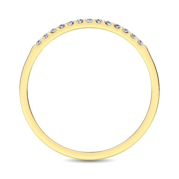 14K Yellow Gold 1/3 Ct Diamond Ladies Machine Band Image 4 Robert Irwin Jewelers Memphis, TN