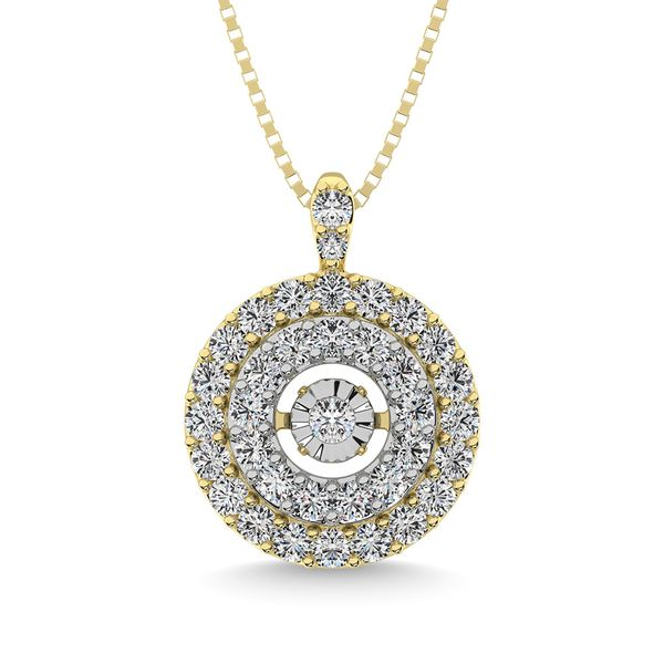 Diamond 3/8 Ct.Tw. Shimmering Pendant in 10K Yellow Gold Robert Irwin Jewelers Memphis, TN