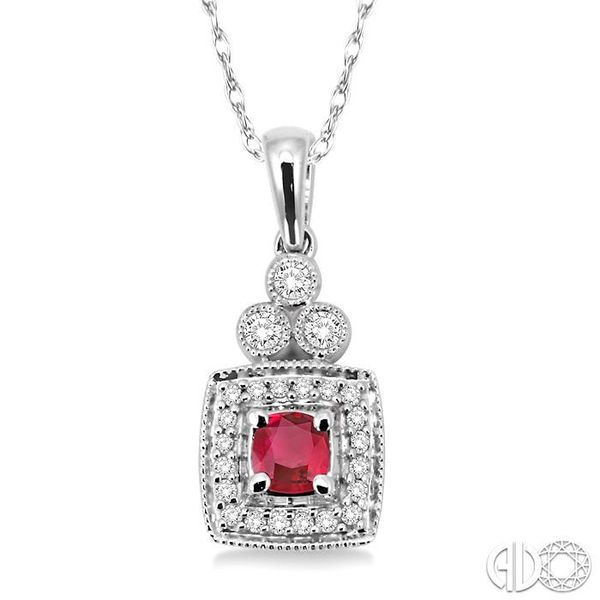 GEMSTONE & DIAMOND PENDANT Robert Irwin Jewelers Memphis, TN