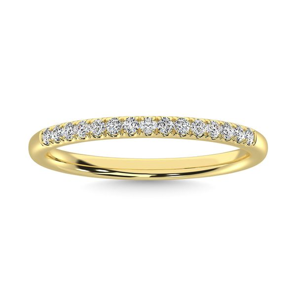 14K Yellow Gold Diamond 1/8 Ct.Tw. Men's Machine Band Robert Irwin Jewelers Memphis, TN