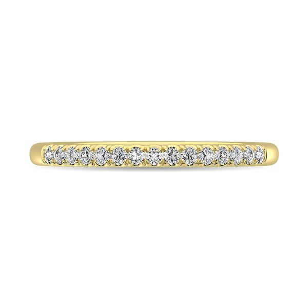14K Yellow Gold Diamond 1/8 Ct.Tw. Men's Machine Band Image 2 Robert Irwin Jewelers Memphis, TN